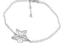 Fint sølvarmbånd med smuk stjerne
